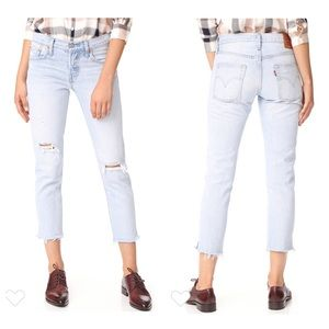 Levi's 501 T Tapered Jeans in Bowie Destressed 27
